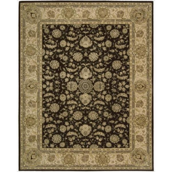 Nourison 2000 Traditional Hand-Tufted Espresso Persian Rug