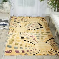 Nourison Parallels Geometric Ivory Rug