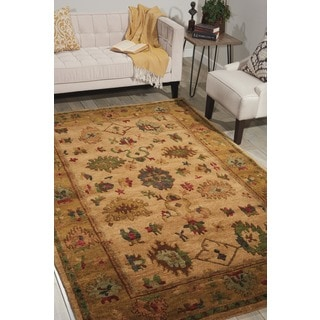 Nourison Hand-Knotted Tahoe Gold Wool Rug