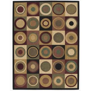 Nourison Parallels Circle Pattern Multi-colored Rug