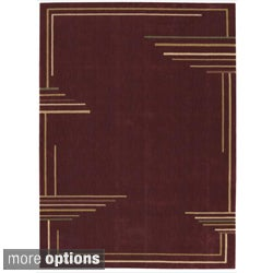 Nourison Parallels Abstract Brick Rug