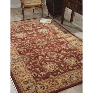 Nourison 2000 Hand-tufted Rust Wool Rug (Option: 6' X 6')