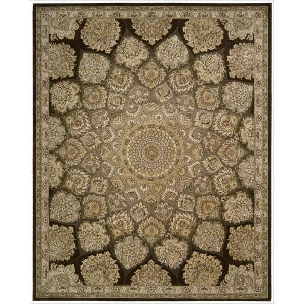 Shop Nourison 2000 Hand Tufted Medallion Brown Wool Rug On Sale