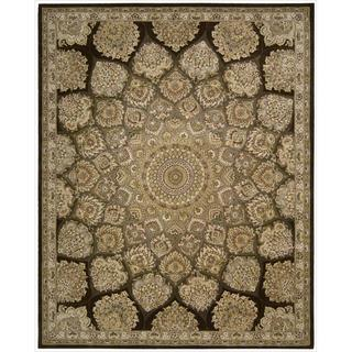Nourison 2000 Hand-tufted Medallion Brown Wool Rug (More options available)