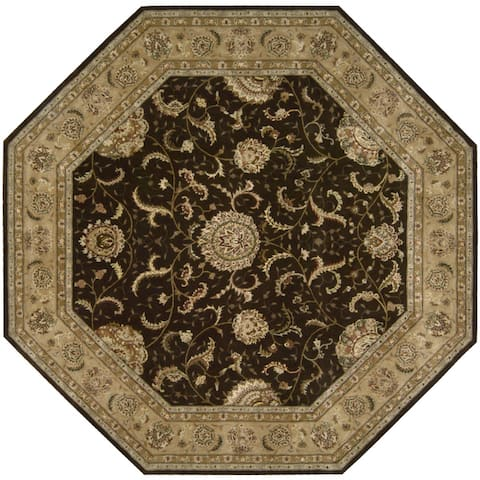 Nourison Hand-tufted Oriental Bordered Wool Area Rug