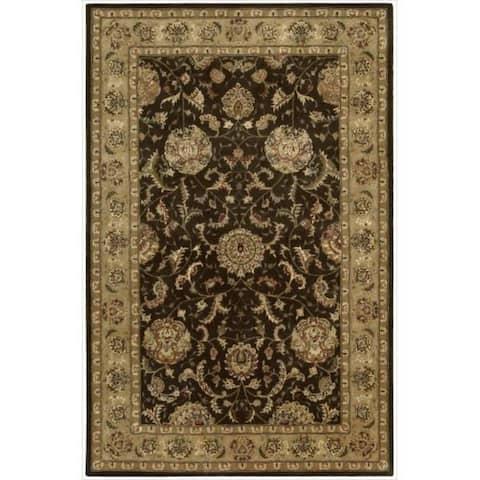 Nourison Hand-tufted Oriental Bordered Wool Area Rug