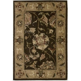 Nourison 2000 Hand Tufted Wool Silk Kashan Brown Rug (More options available)