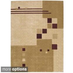 Nourison Parallels Geometric Beige Rug