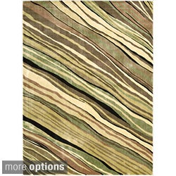 Nourison Parallels Stripe Multi-colored Rug