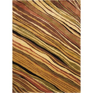 Nourison Parallels Stripe Multi-colored Rug