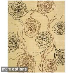 Nourison Parallels Floral Bloom Ivory Rug