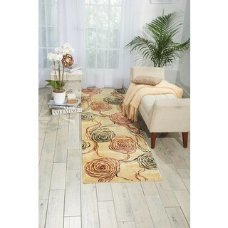 Nourison Parallels Floral Bloom Ivory Rug (More options available)