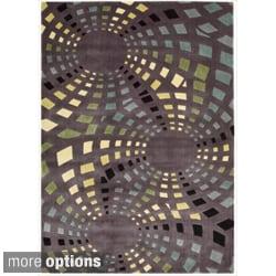 Nourison Parallels Geometric Lavendar Rug