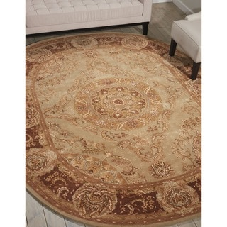 Nourison 2000 Hand-tufted Medallion Tarragon Wool Rug