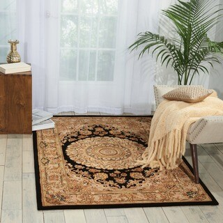 Nourison 2000 Hand Tufted Medallion Black Rug