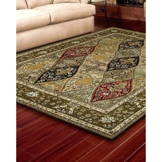 Nourison 2000 Hand tufted Curved Diamonds Multi Rug