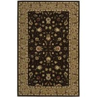 Nourison 2000 Hand-tufted Kashan Brown Wool Rug (7'9 x 9'9) - 7'9 x 9'9