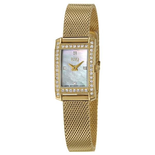 ESQ by Movado Women's 'Neve' Stainless Steel Yellow Goldplated Swiss Quartz Watch