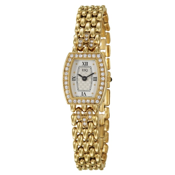 ESQ by Movado Women's 'Biella' Stainless Steel Yellow Goldplated Swiss Quartz Watch