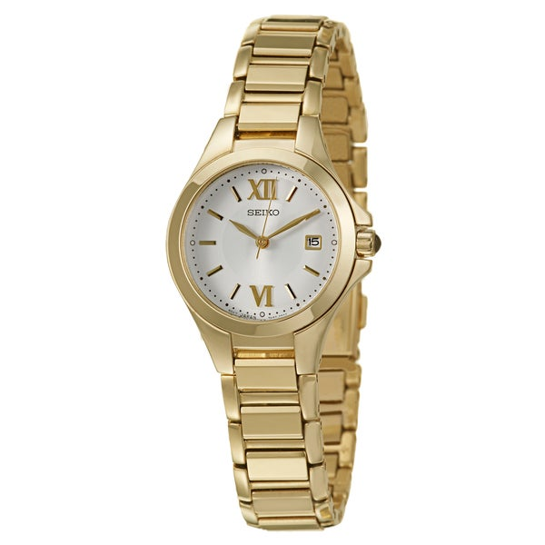 Seiko Women's 'Dress' Stainless Steel Yellow Goldplated Quartz Watch
