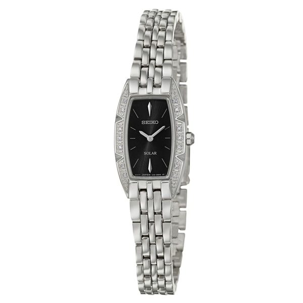 Seiko Women's 'Solar' Stainless Steel Solar Powered Quartz Watch