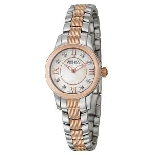 Bulova Accutron Women's 'Masella' Stainless Steel and Rose Goldplated Swiss Quartz Watch