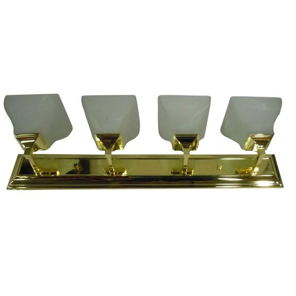 4-light Polished Brass Vanity Light