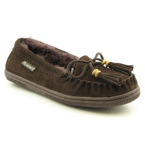 Bearpaw Women's 'Moc Fringe' Regular Suede Casual Shoes