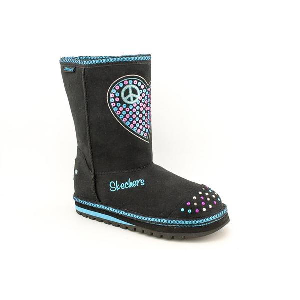 Twinkle Toes By Skechers Girl's 'Keepsakes-Flash N Fancy' Basic Textile Boots