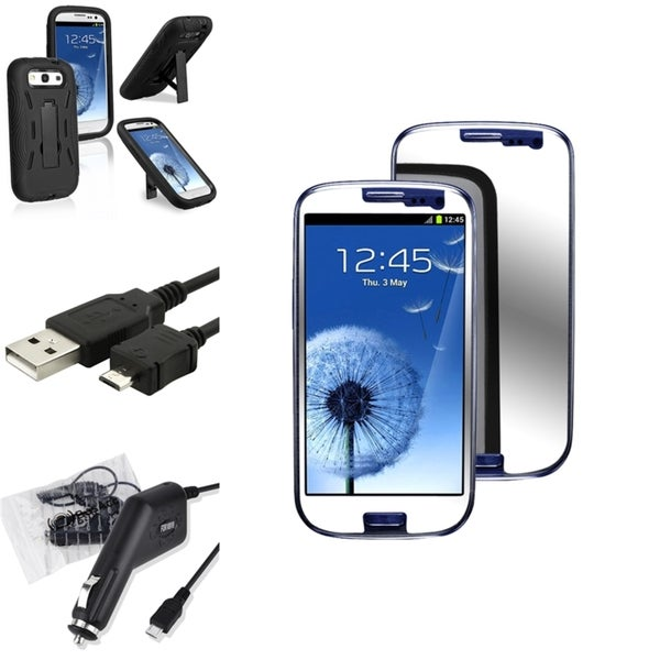 INSTEN Phone Case Cover/ Screen Protector/ Charger/ Cable for Samsung Galaxy S3