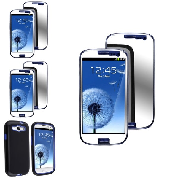 BasAcc Case for Easy Access/Mirror Screen Protector for Samsung Galaxy S3