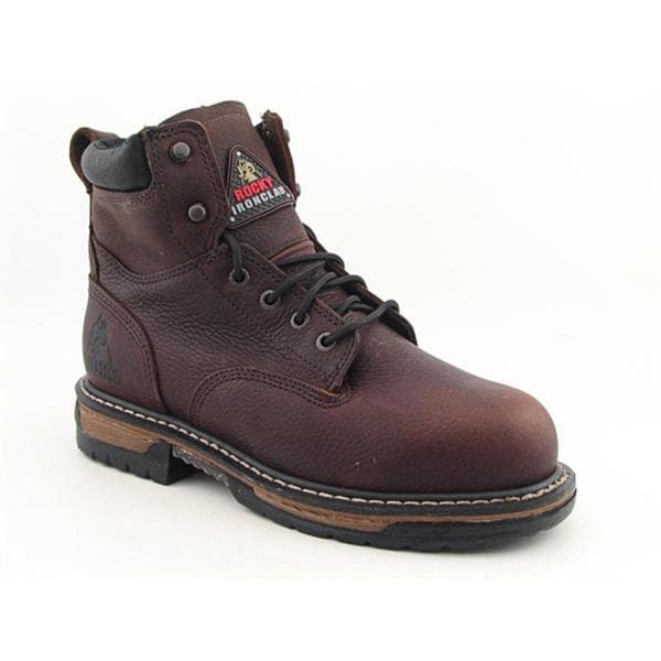 """Rocky Men's '6"""" Ironclad' Leather Boots Wide"""