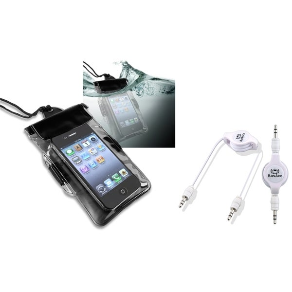 INSTEN Waterproof Bag/ Cable for HTC EVO 4G LTE/ One X/ Thunderbolt
