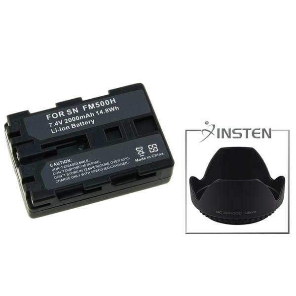 INSTEN Battery/ Lens Hood for Sony DSLR A350/ A300/ A200 SLR