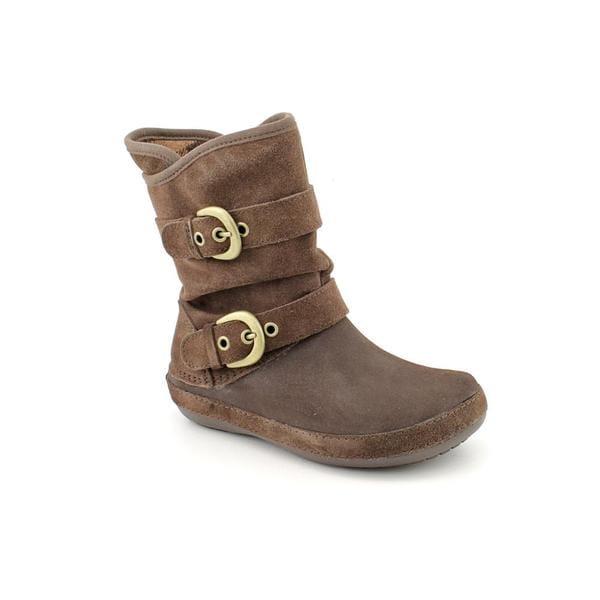 Crocs Women's 'Berryessa Suede Buckle Boot' Regular Suede Boots