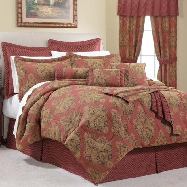Bellissimo Red Queen-size 24-piece Room in a Bag with Sheet Set
