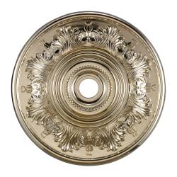 Chrome Finish 30-inch Decorative Medallion