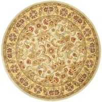 "Safavieh Handmade Classic Grey/ Light Gold Wool Rug - 3'6"" x 3'6"" round"