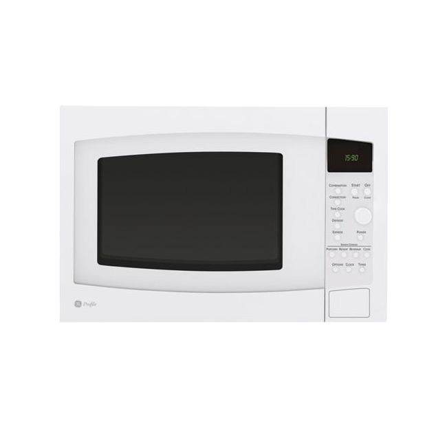 GE Profile PEB1590DMWW White Countertop Microwave Oven - Free Shipping ...