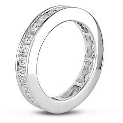 Miadora 14k White Gold 2 1/2ct TDW Diamond Eternity Ring (G-H, SI1-SI2)