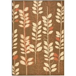 Safavieh Courtyard Foliage Brown/ Terracotta Indoor/ Outdoor Rug - 8' x 11' - Thumbnail 0