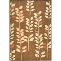 Safavieh Courtyard Foliage Brown/ Terracotta Indoor/ Outdoor Rug - 8' x 11'