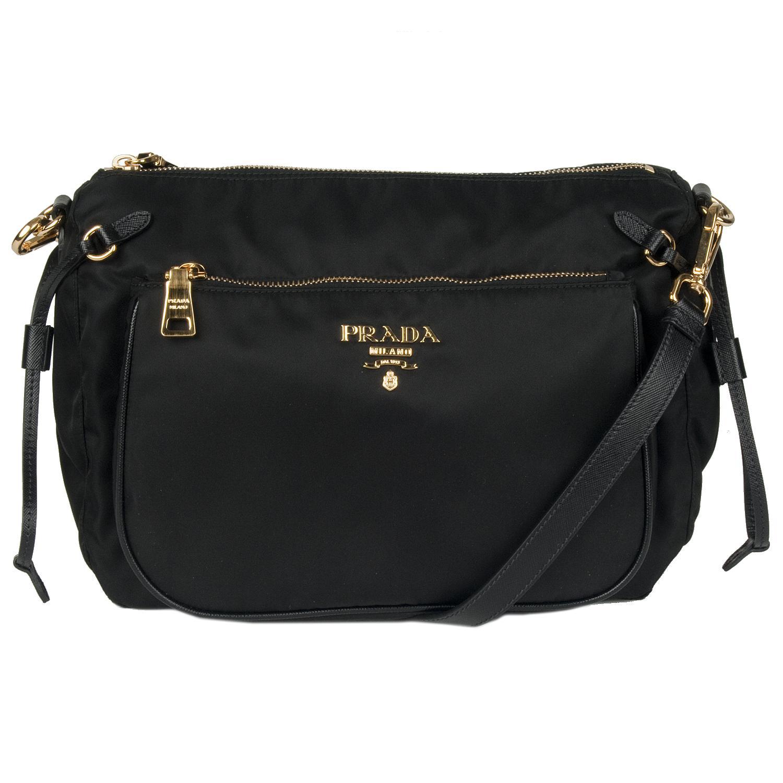 Prada 'Tessuto & Saffiano' Nylon Messenger Bag