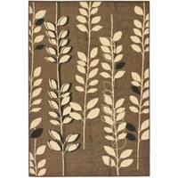 Safavieh Courtyard Foliage Brown/ Black Indoor/ Outdoor Rug - 8' x 11'
