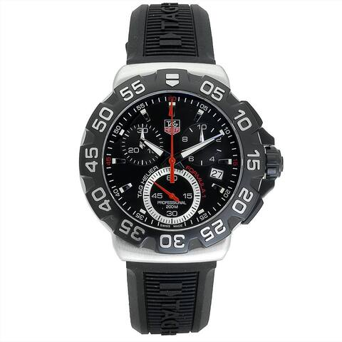 Tag Heuer Men's CAH1110.BT0714 'Formula 1' Chronograph Black Rubber Watch