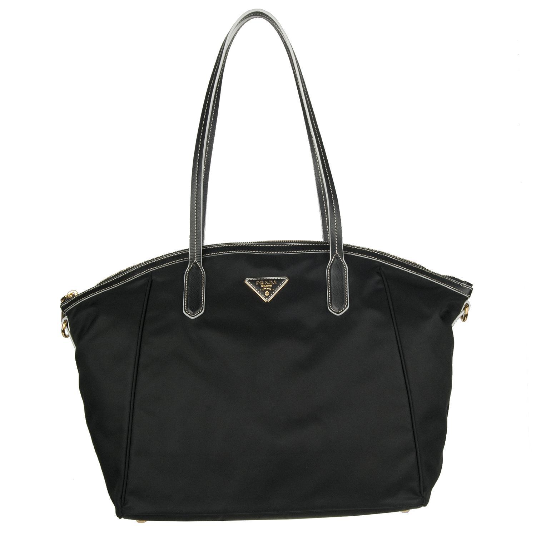 e72a1fe369c0 Shop Prada BR4664 Black Nylon Tote Bag - Free Shipping Today -  Overstock.com - 5764898