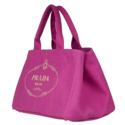 Prada Pink Canvas Tote Bag - Free Shipping Today - Overstock.com ...