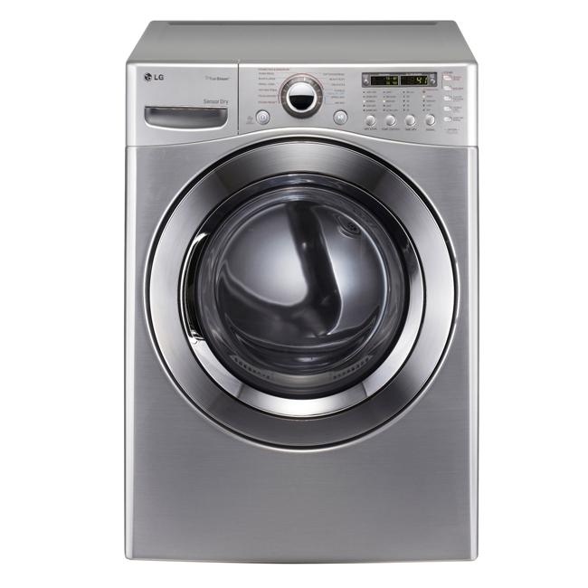 LG 7.4-cubic-foot Graphite Steel Front Control Gas SteamDryer