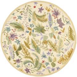 Safavieh Hand-hooked Chelsea Gardens Ivory/ Multi Wool Rug (4' Round)