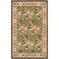 Safavieh Hand-hooked Chelsea Eden Multi/ Black Wool Rug (3'9 x 5'9)